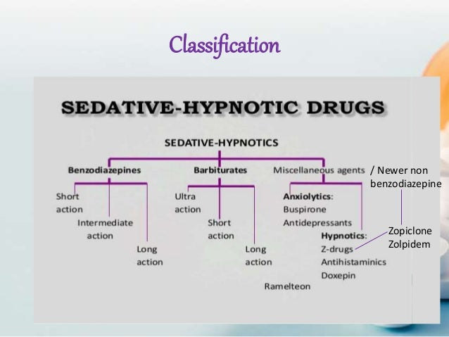 Notes sedative & hypnotics