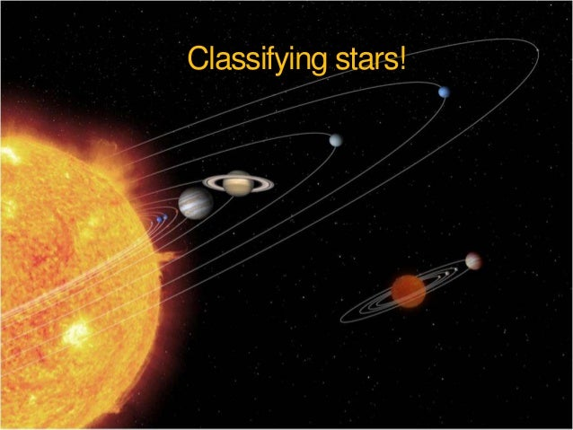 Classifying stars!