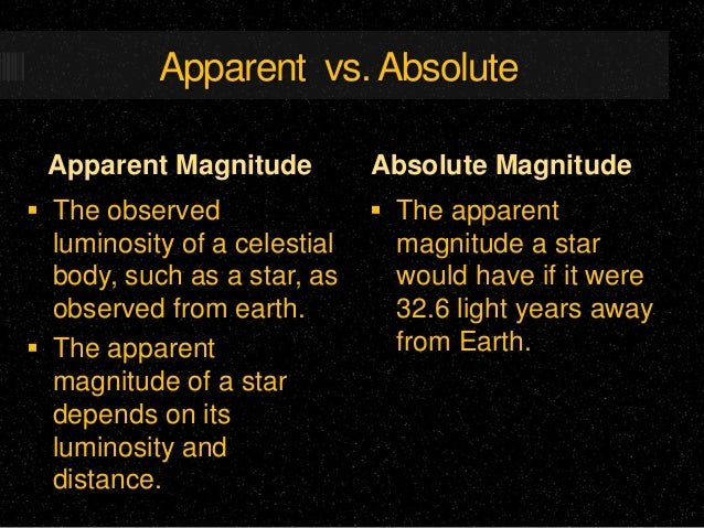 absolute magnitude and apparent relationship counseling