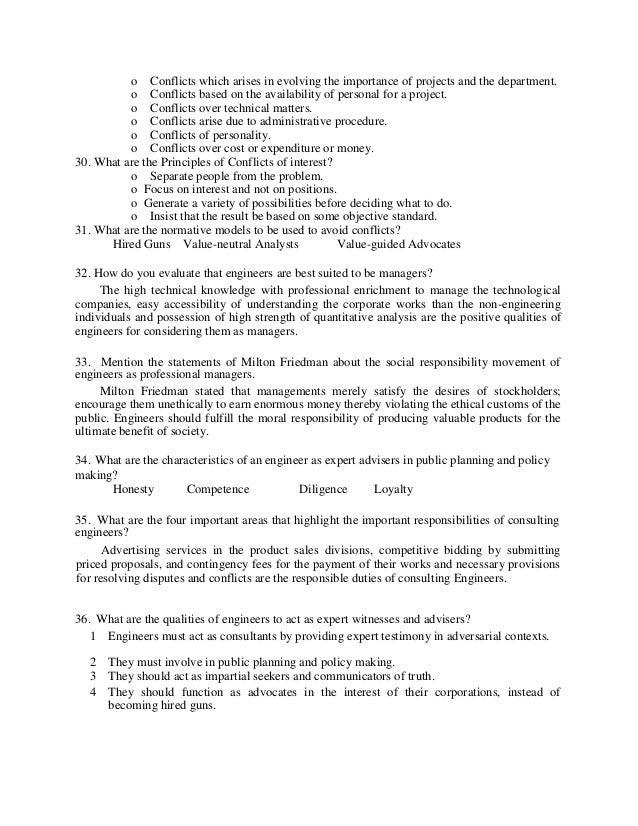 professional ethics notes  33 o
