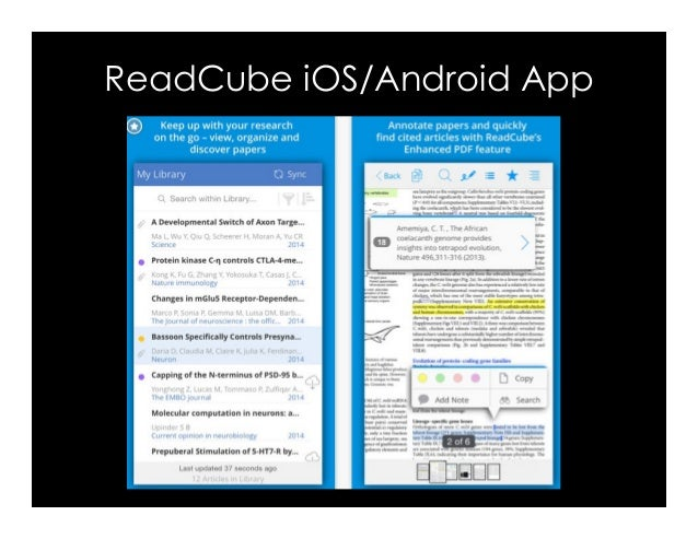 ReadCube iOS/Android App