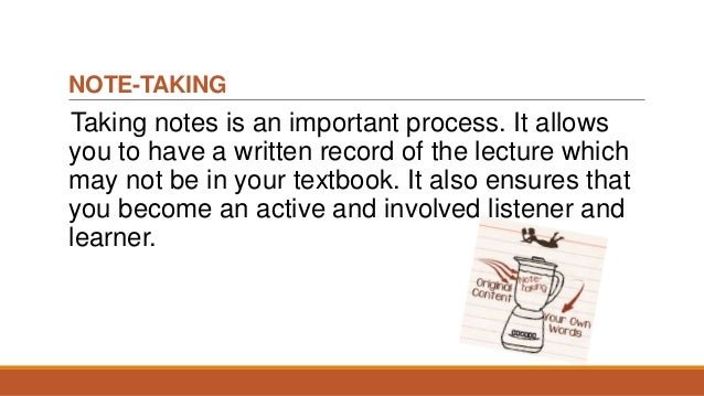 importance of note making