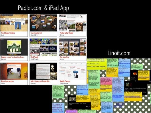 Padletcom & iPad App                       % A   Linoit. com   .  l,  4 ' V C C V        .  ' .  . .  . .       euamgm  «I...