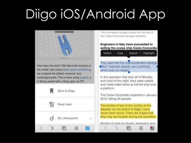 Diigo IOS/ Android App  Engineers in Italy have succeeded in settin the cruise shi - Costa Concordia  Define Copy Search Hu...