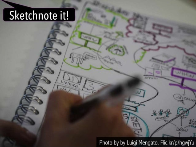 Sketchnote it!   Photo by by Luigi Mengato,  F| ic. kr/ p/hgwjYu