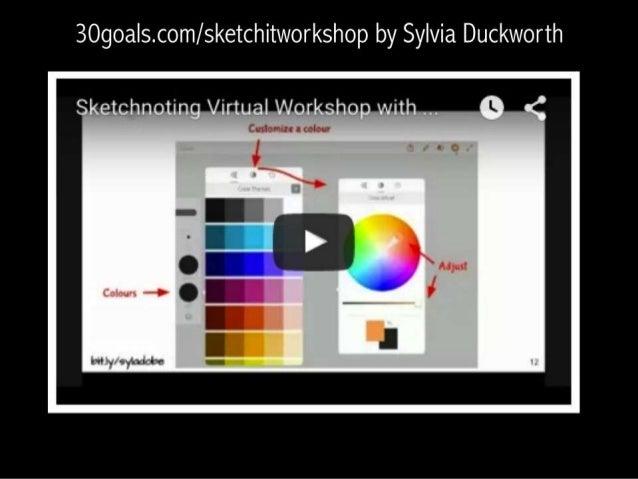 30goals. com/ sketchitworkshop by Sylvia Duckworth  Sketchnoting Virtual Workshop with