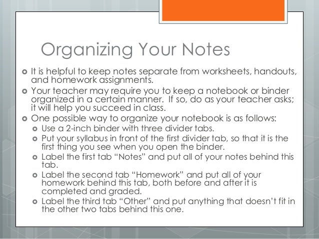 Note taking study skills – Note Taking Worksheets