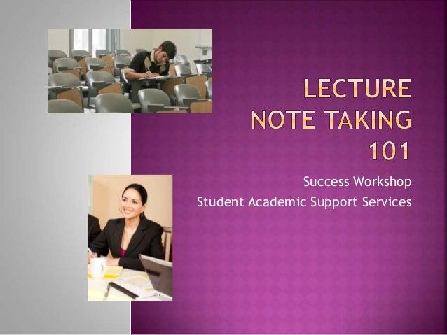 Success Workshop Student Academic Support Services