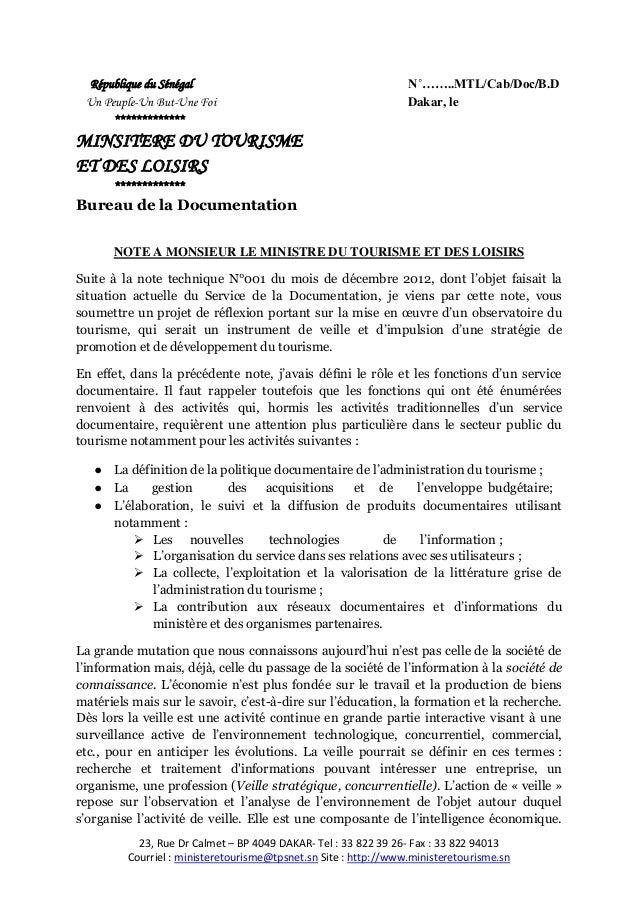 23, Rue Dr Calmet – BP 4049 DAKAR- Tel : 33 822 39 26- Fax : 33 822 94013Courriel : ministeretourisme@tpsnet.sn Site : htt...