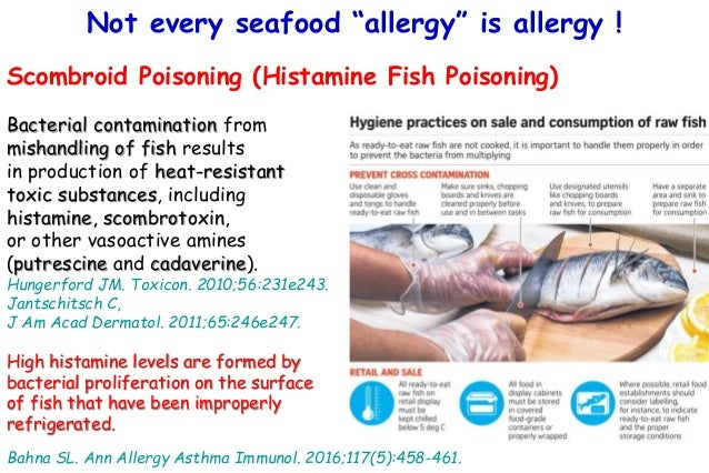 Not every seafood allergy is allergy for Diarrhea after eating fish