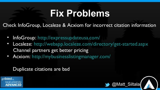 @Matt_SiltalaConstant Contact Survey• 50% see inaccurate listings for their business• 70% don't have time to manage all th...
