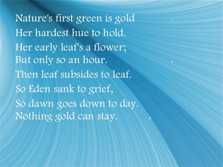 stay gold poem meaning