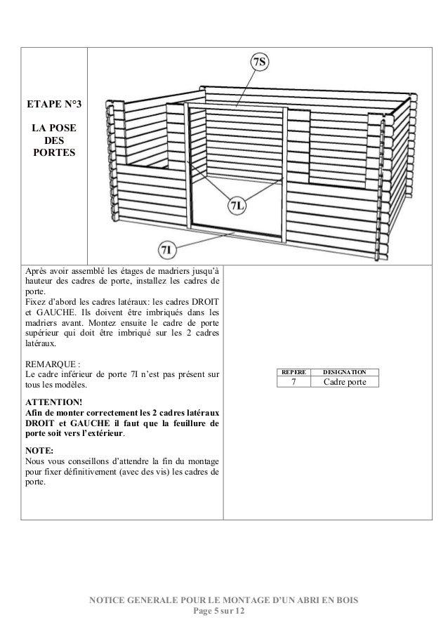 notice de montage generale cabanon bois. Black Bedroom Furniture Sets. Home Design Ideas