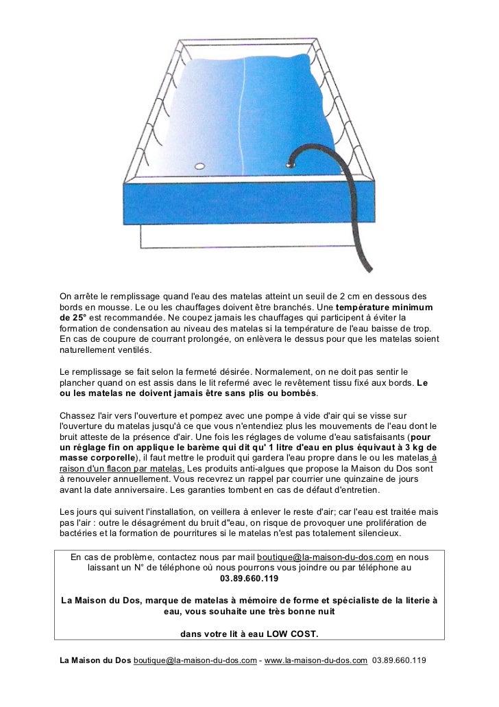 notice de montage lit eau low cost. Black Bedroom Furniture Sets. Home Design Ideas