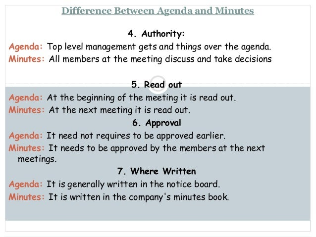 prepare an agenda for a company meeting