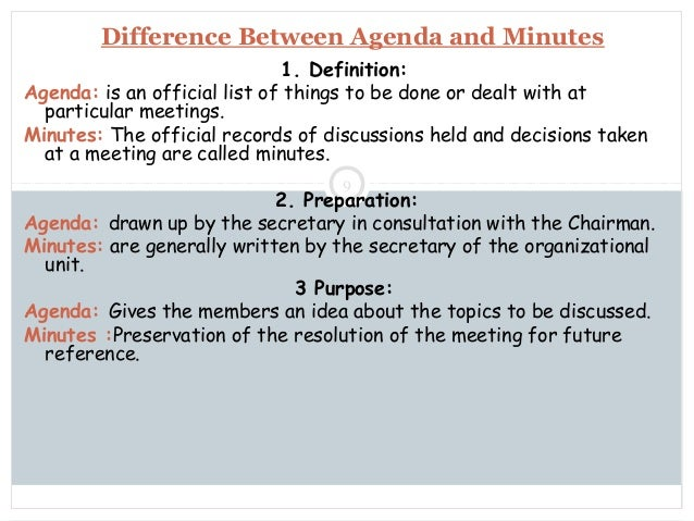 Noticeagendaminutes – Preparing Meeting Agenda