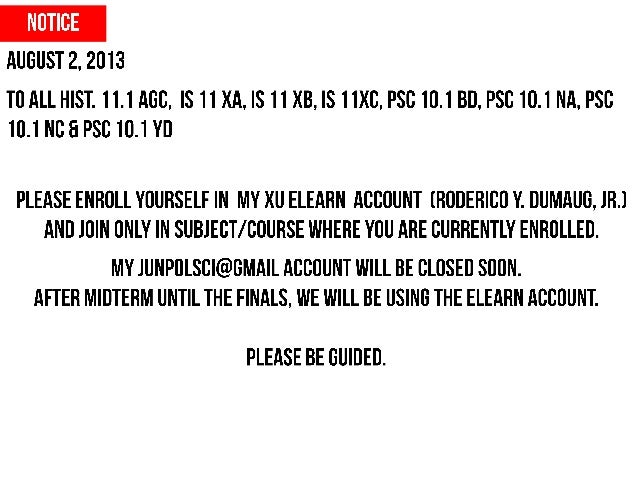 NOTICE FOR OPENING ELEARN ACCOUNT