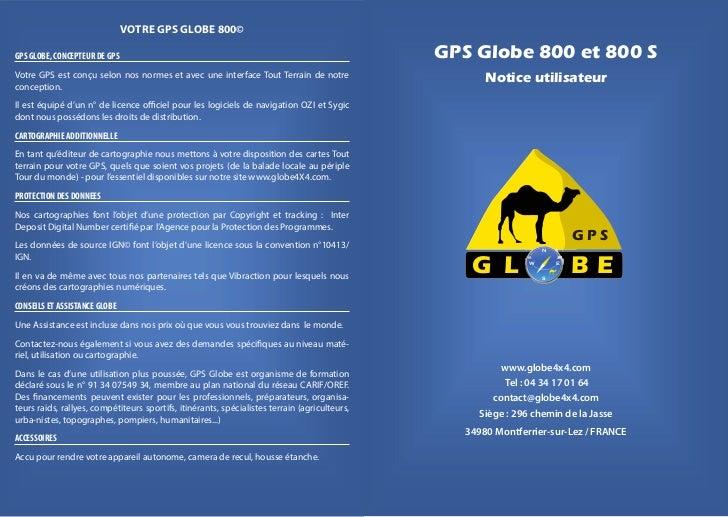 VOTRE GPS GLOBE 800©GPS GLOBE, CONCEPTEUR DE GPS                                                                   GPS Glo...