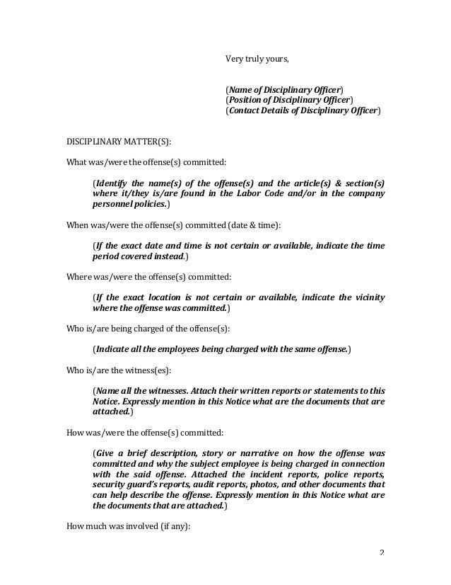 Notice to explain with preventive suspension sample form 2 altavistaventures