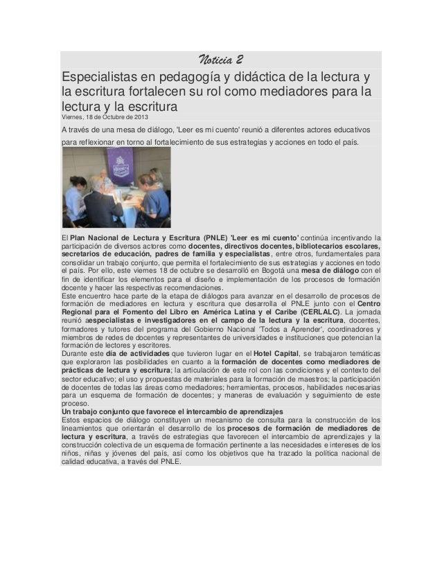 Noticia 2 Especialistas en pedagogía y didáctica de la lectura y la escritura fortalecen su rol como mediadores para la le...