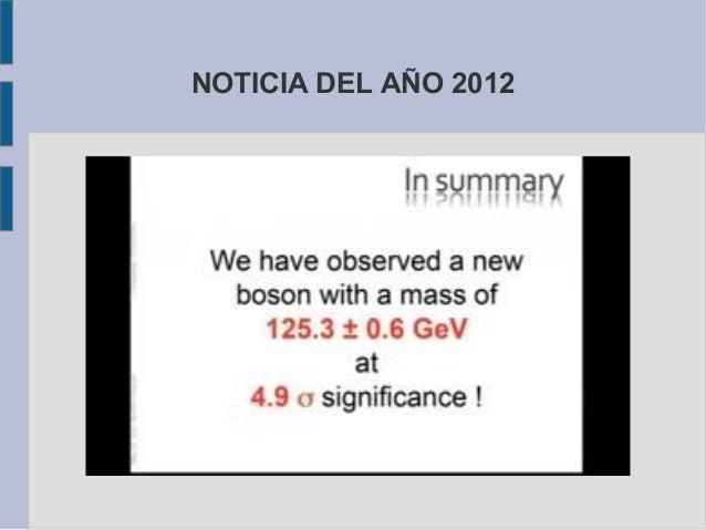 NOTICIA DEL AÑO 2012