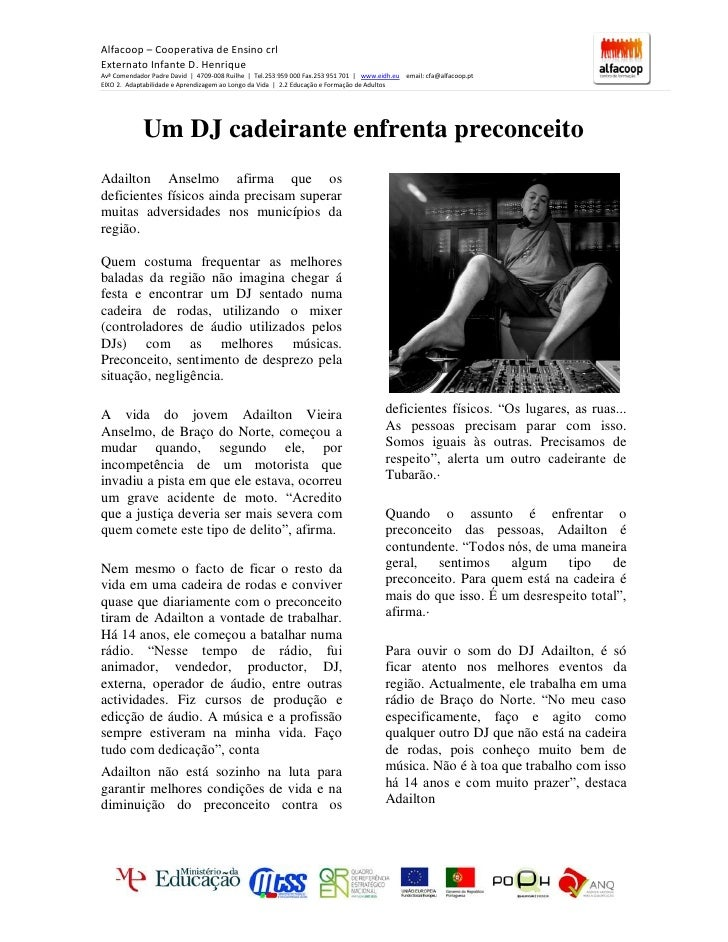 Alfacoop – Cooperativa de Ensino crl Externato Infante D. Henrique Avª Comendador Padre David | 4709-008 Ruílhe | Tel.253 ...