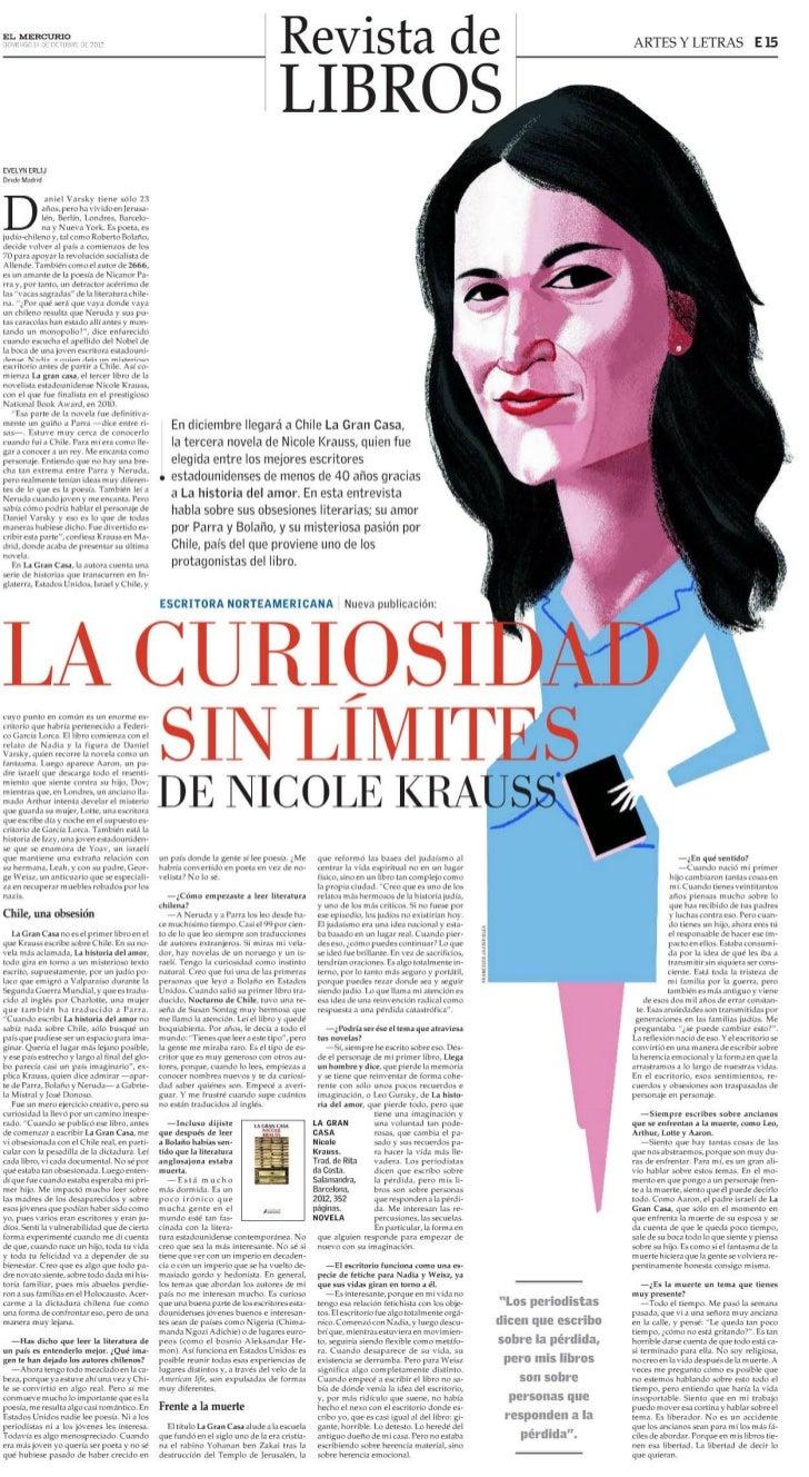 La curiosidad sin límites de Nicole Krauss