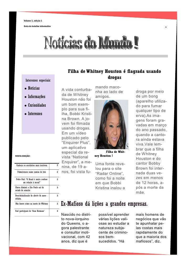 Volume 1, edição 1         Data do boletim informativo                                                                    ...
