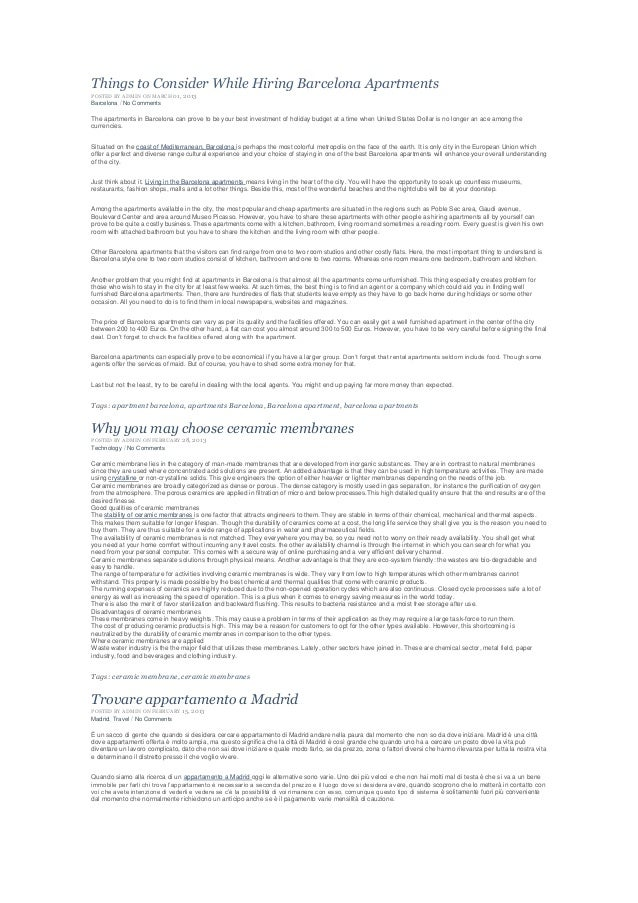 Things to Consider While Hiring Barcelona ApartmentsPOSTED BY ADMIN ON MARCH 01, 2013Barcelona / No CommentsThe apartments...