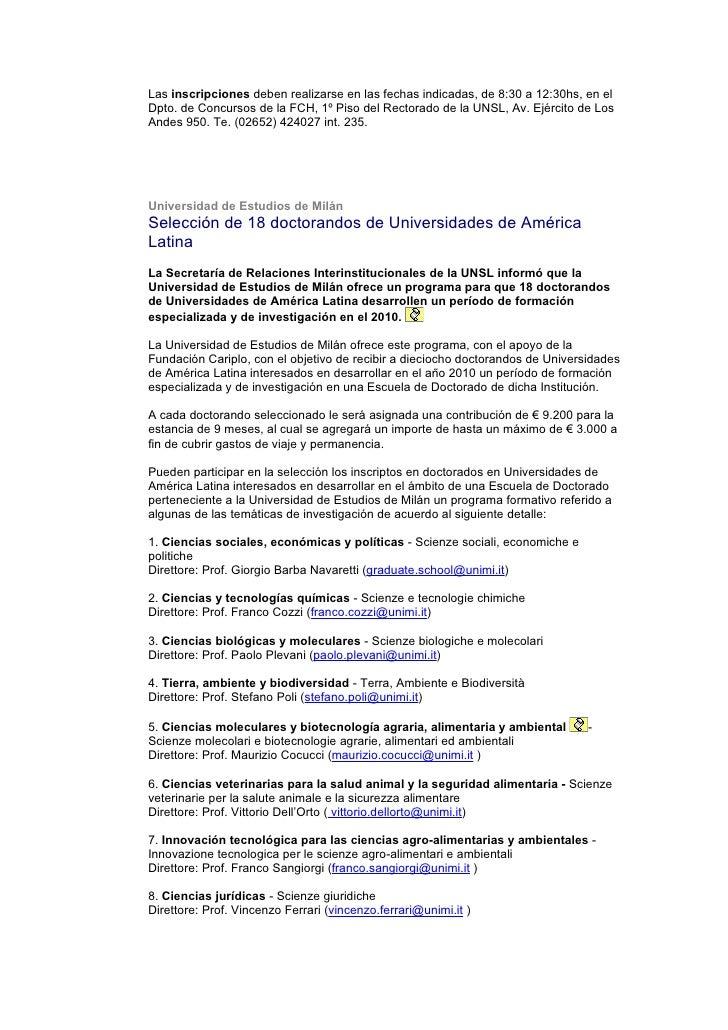 Noticias De La Universidad Nacional De San Luis Slide 3