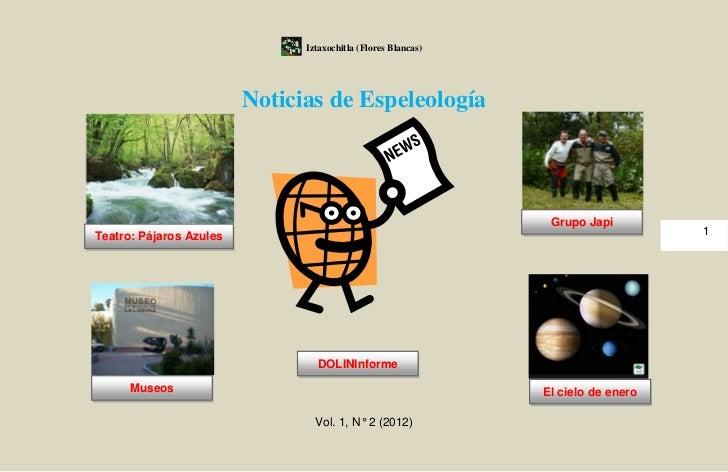Iztaxochitla (Flores Blancas)                         Noticias de Espeleología                                            ...
