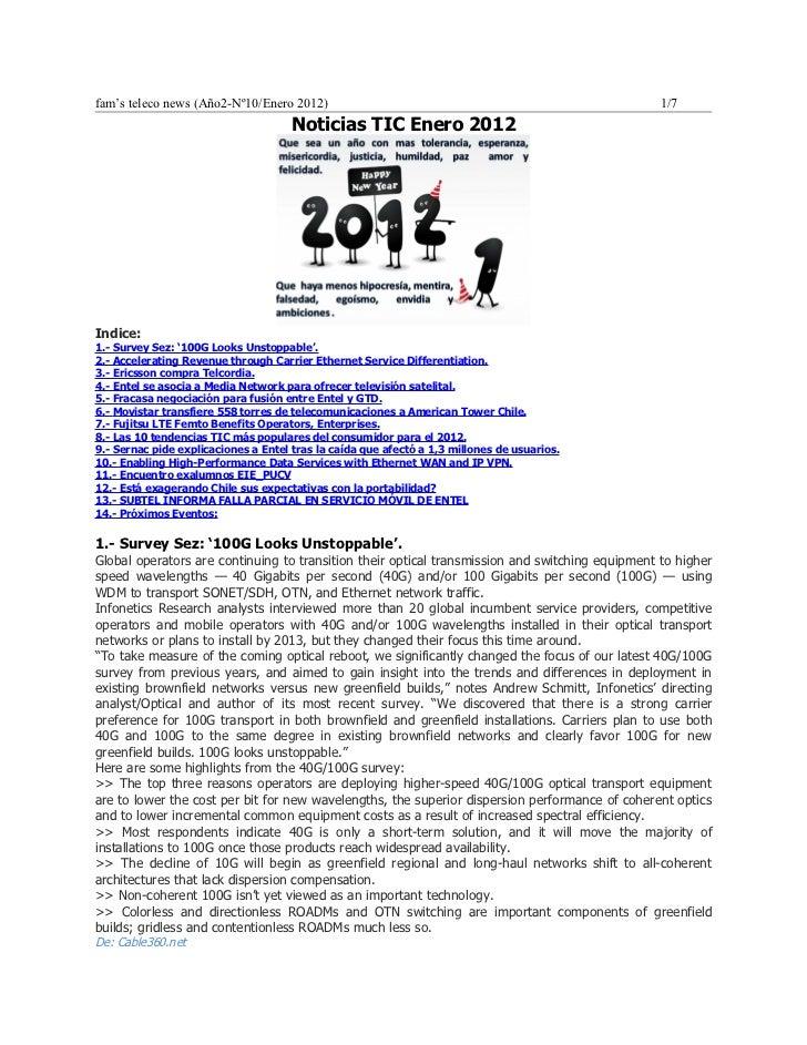 Noticias TEL enero 2012