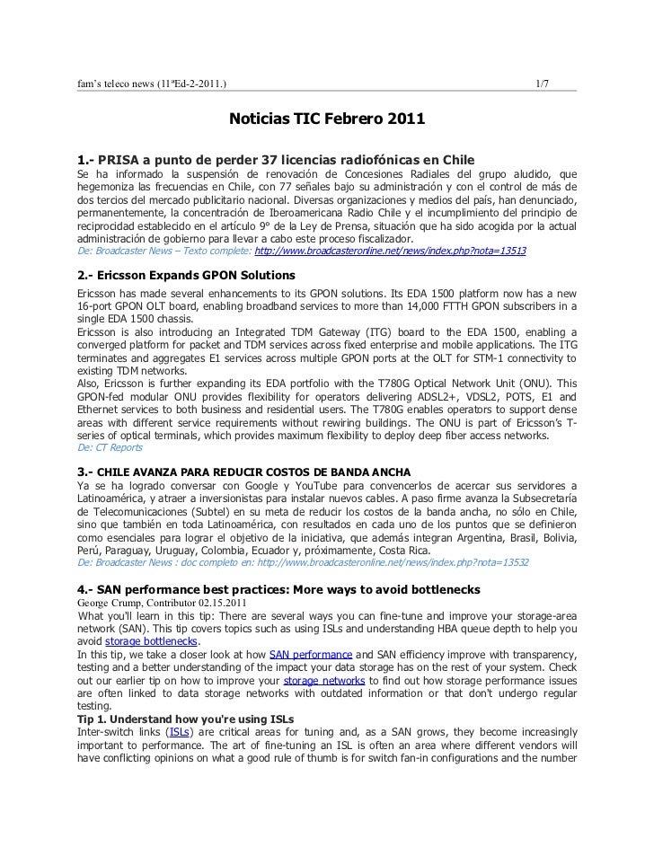 fam's teleco news (11ªEd-2-2011.)                                                                    1/7                  ...