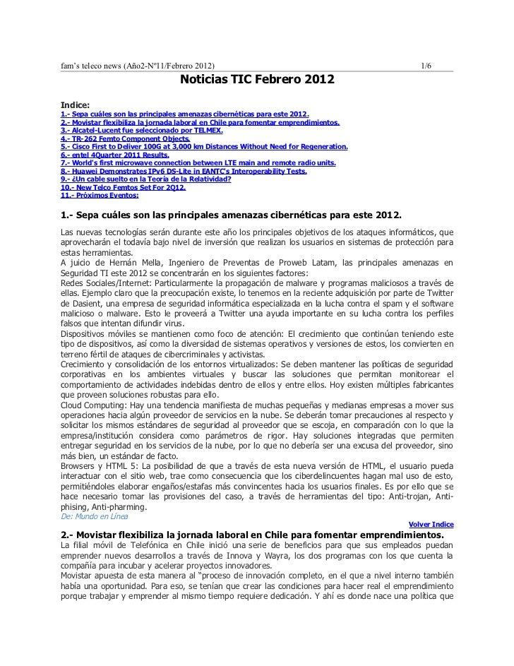 Noticias TEL febrero 2012
