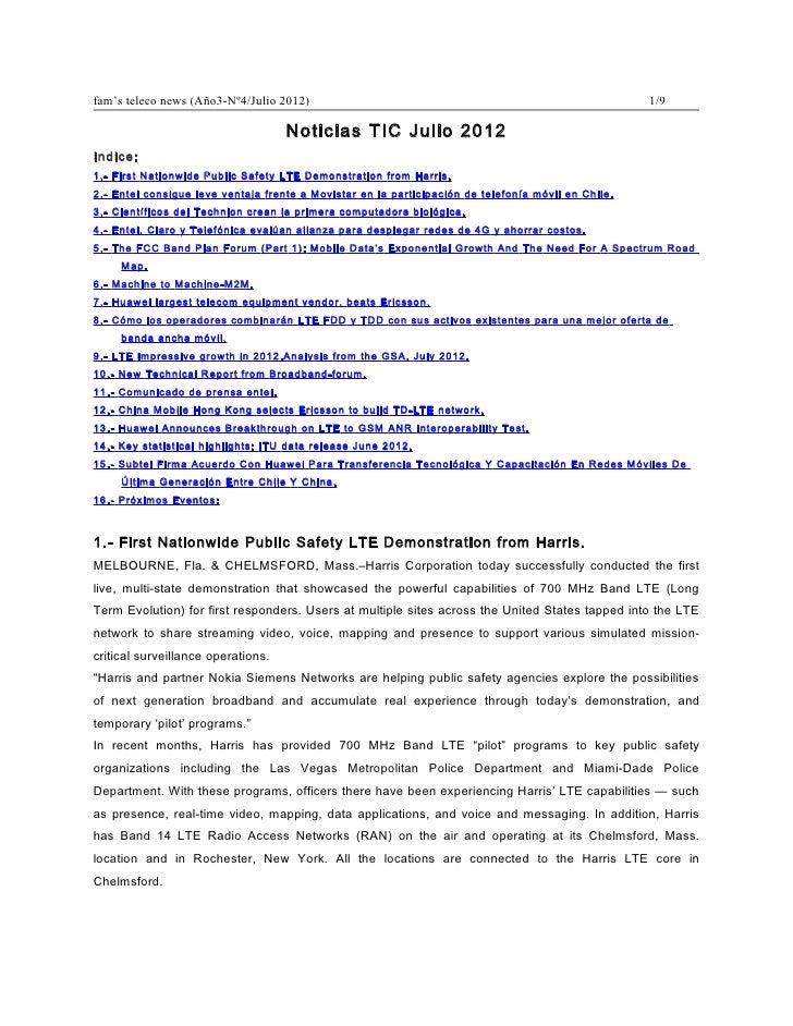 fam's teleco news (Año3-Nº4/Julio 2012)                                                              1/9                  ...