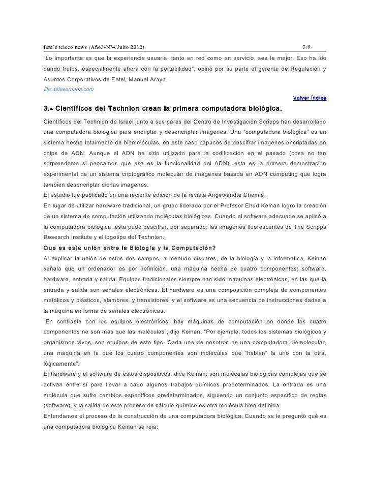 """fam's teleco news (Año3-Nº4/Julio 2012)                                                          3/9""""Lo importante es que ..."""