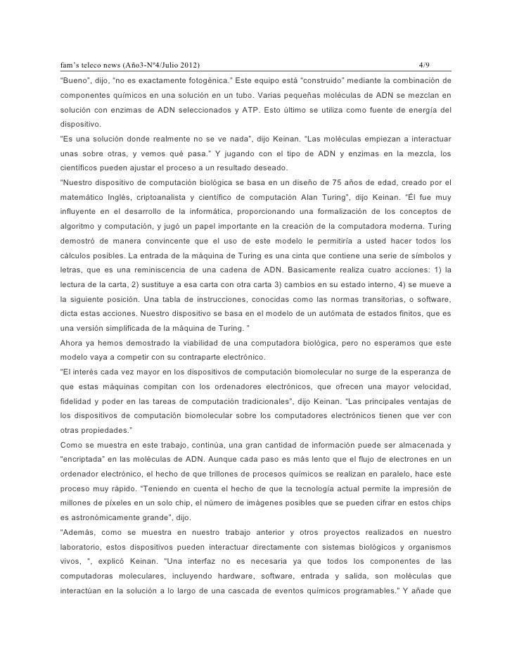 """fam's teleco news (Año3-Nº4/Julio 2012)                                                           4/9""""Bueno"""", dijo, """"no es..."""