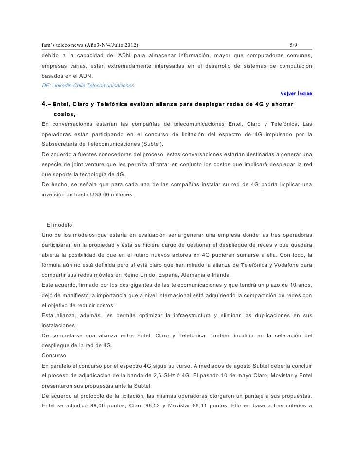 fam's teleco news (Año3-Nº4/Julio 2012)                                                         5/9debido a la capacidad d...