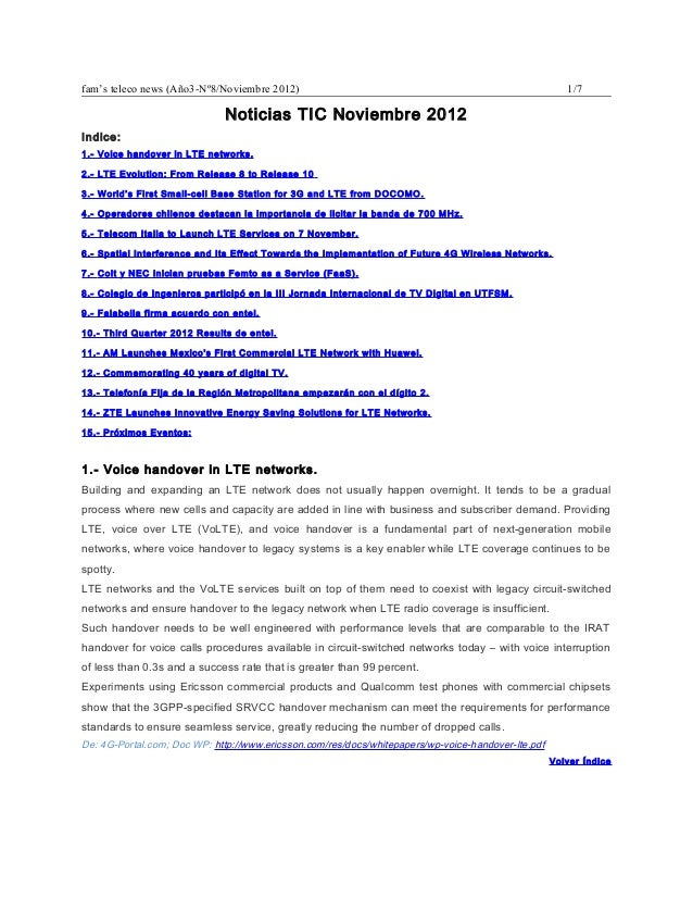 fam's teleco news (Año3-Nº8/Noviembre 2012)                                                            1/7                ...