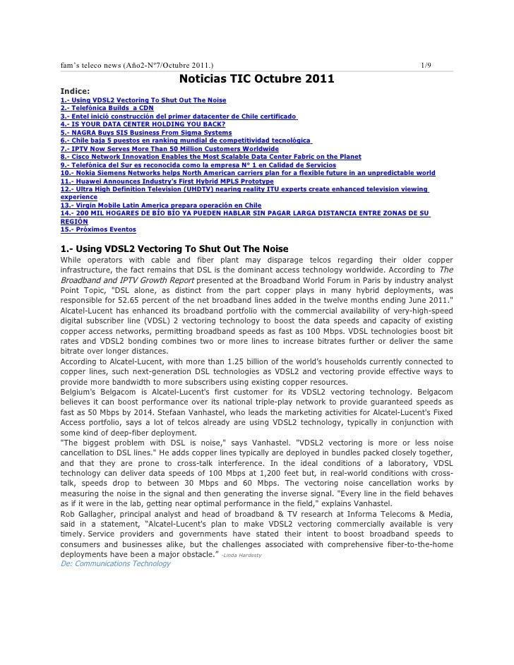 Noticias TELCO octubre 2011