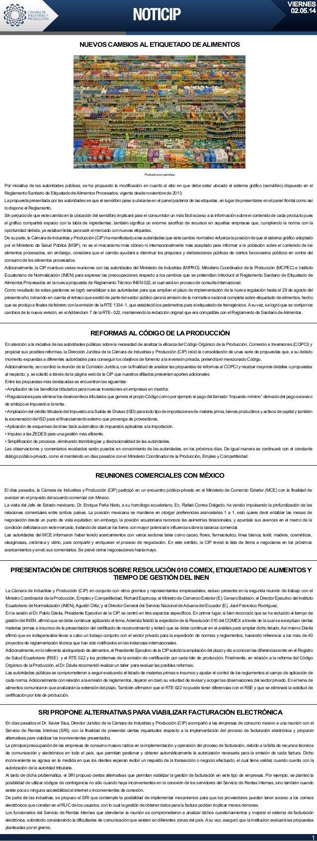 VIERNES 02.05.14 1 Por iniciativa de las autoridades públicas, se ha propuesto la modificación en cuanto al sitio en que d...