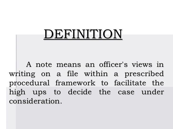 define noting details