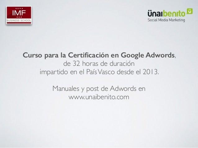 No tirar el dinero en google adwords Slide 2