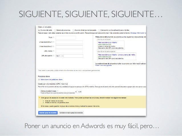 No tirar el dinero en google adwords Slide 3
