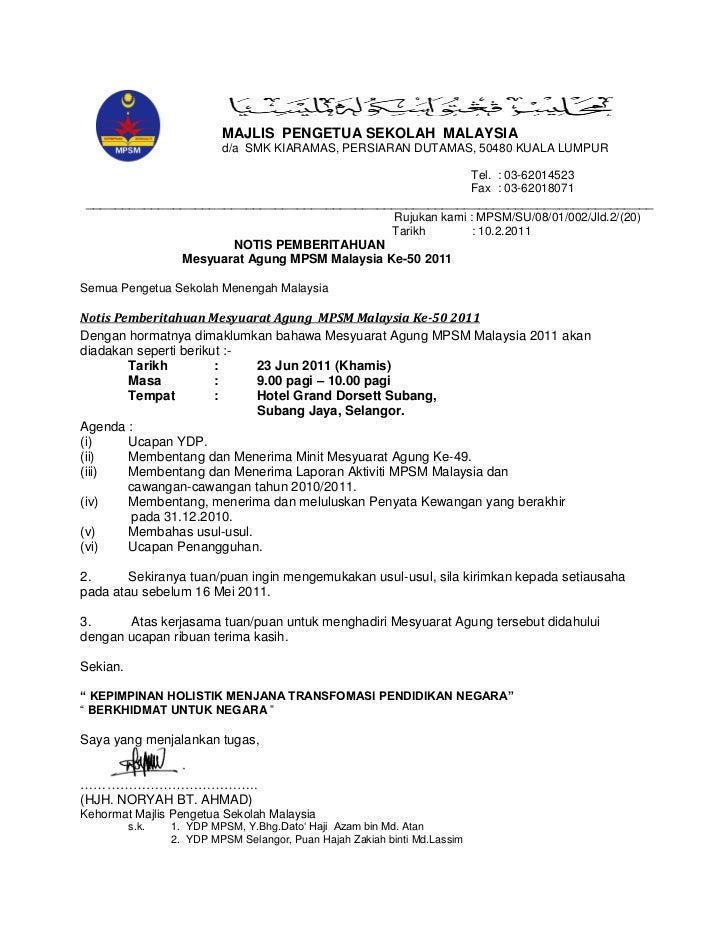 MAJLIS PENGETUA SEKOLAH MALAYSIA                          d/a SMK KIARAMAS, PERSIARAN DUTAMAS, 50480 KUALA LUMPUR         ...