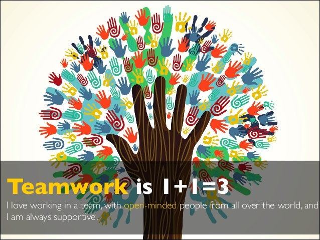 ! Teamwork is 1+1=3  I love working in a team, with open-minded people from all over the world, and I am always supportiv...