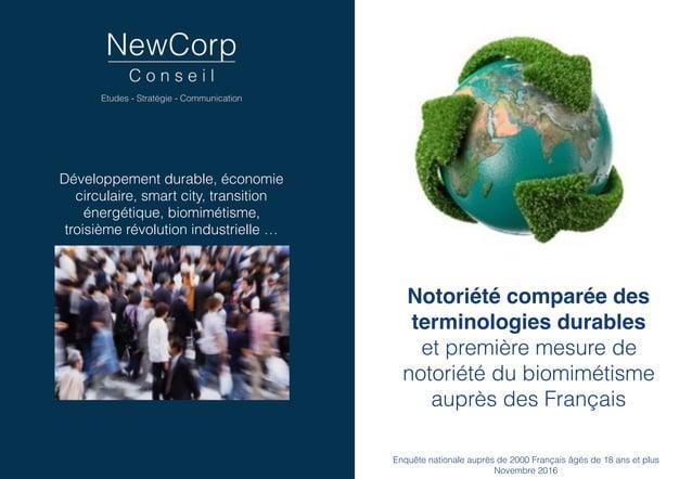 Développement durable, économie circulaire, smart city, transition énergétique, biomimétisme, troisième révolution industr...