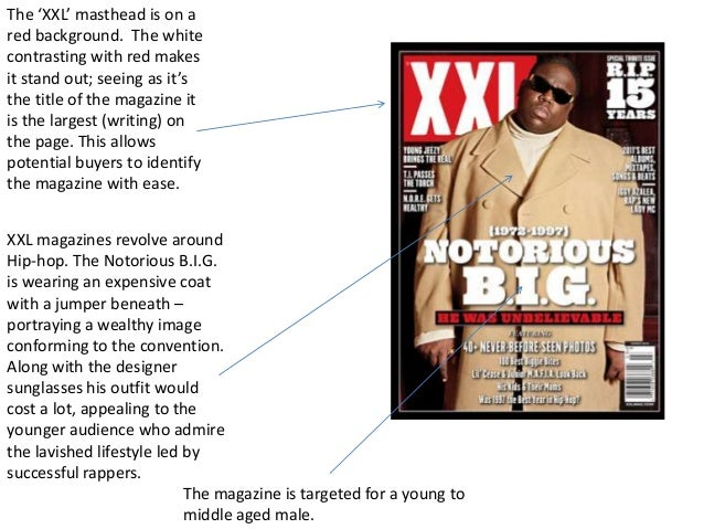 The 'XXL' masthead is on ared background. The whitecontrasting with red makesit stand out; seeing as it'sthe title of the ...