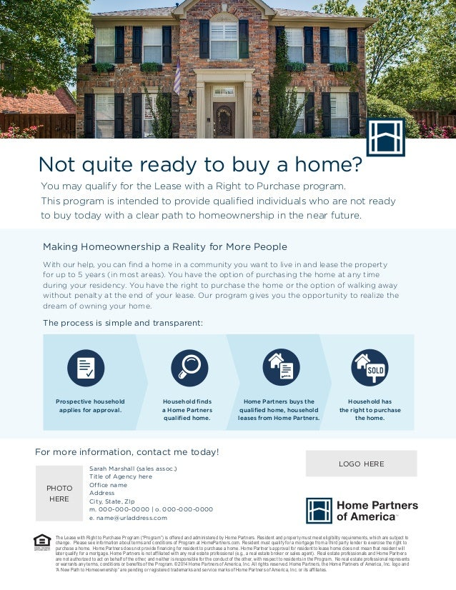 Not quite ready to buy a home? You may qualify for the Lease with a Right to Purchase program. This program is intended to...