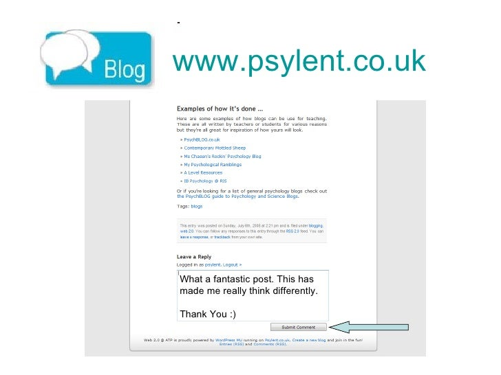 www.psylent.co.uk   What a fantastic post. This has  made me really think differently.  Thank You :)